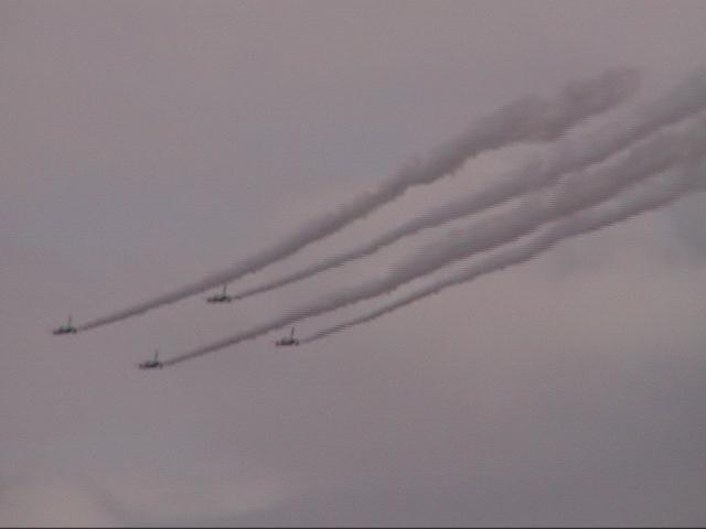 ジェット機雲4