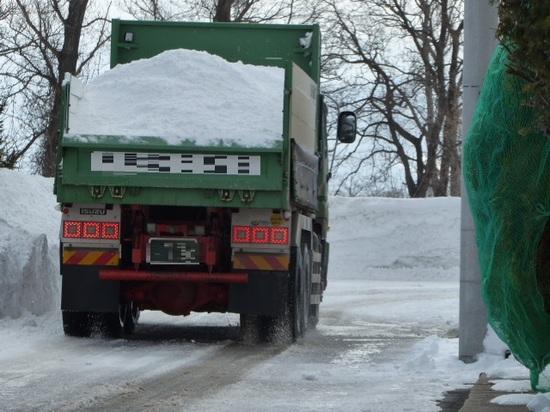 雪を積んだダンプ.JPG